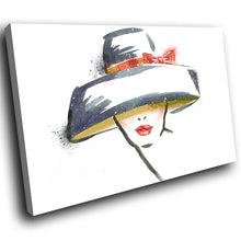 E057 Grey White Yellow Red Retro Woman Modern Canvas Wall Art Picture Prints-Canvas Print-WhatsOnYourWall