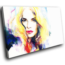 E058 Colourful Retro Woman Funky Modern Canvas Wall Art Large Picture Prints-Canvas Print-WhatsOnYourWall