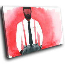 E064 Black White Red Abstract Man Modern Canvas Wall Art Large Picture Prints-Canvas Print-WhatsOnYourWall