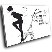 E065 Black White Paris Retro Quote Modern Canvas Wall Art Large Picture Prints-Canvas Print-WhatsOnYourWall