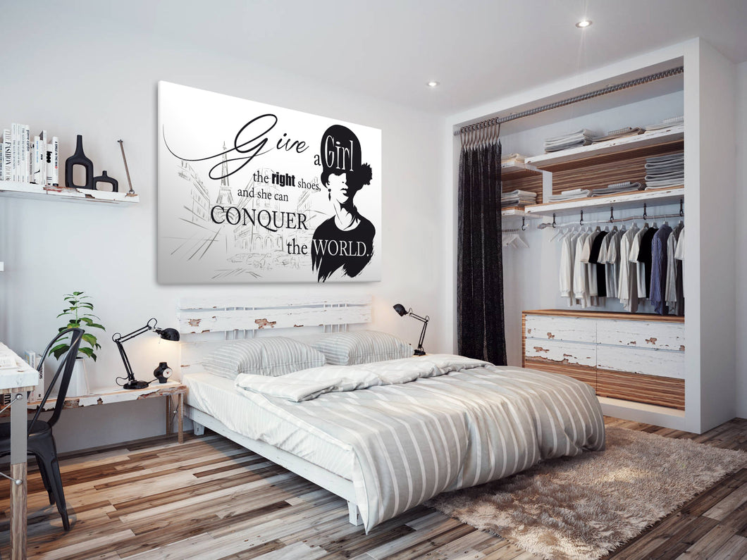 E066 Black White Paris Retro Quote Modern Canvas Wall Art Large Picture Prints-Canvas Print-WhatsOnYourWall