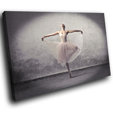 E092 Grey Black Pink Ballerina Ballet Modern Canvas Wall Art Large Picture Print-Canvas Print-WhatsOnYourWall