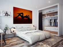 E093 Orange Red Black Woman Erotic Modern Canvas Wall Art Large Picture Prints-Canvas Print-WhatsOnYourWall