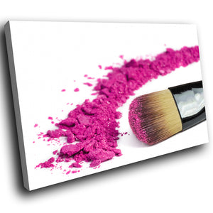 E096 Pink Makeup Brush Fashion Cool Modern Canvas Wall Art Large Picture Prints-Canvas Print-WhatsOnYourWall