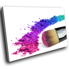 E097 Colourful Makeup Brush Fashion Modern Canvas Wall Art Large Picture Prints-Canvas Print-WhatsOnYourWall