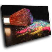 E114 Multicolor Makeup Brush Retro Modern Canvas Wall Art Large Picture Prints-Canvas Print-WhatsOnYourWall