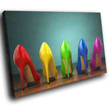 E154 Colourful High Heels Erotic Modern Canvas Wall Art Large Picture Prints-Canvas Print-WhatsOnYourWall