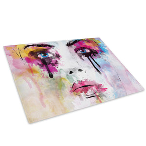 E162 Framed Canvas Print Colourful Modern People Wall Art - Green Pink Black Floral Woman - WhatsOnYourWall