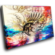 E194 Colourful Vintage Retro Abstract Eye Modern Canvas Wall Art Picture Prints-Canvas Print-WhatsOnYourWall