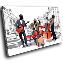 E203 Black White Red Jazz Music Cool Modern Canvas Wall Art Large Picture Prints-Canvas Print-WhatsOnYourWall