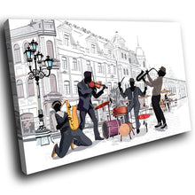 E216 Black White Purple Jazz Music Band Modern Canvas Wall Art Picture Prints-Canvas Print-WhatsOnYourWall