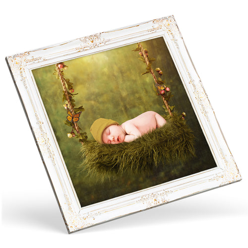Square Custom Photo Canvas - Gold frame effect