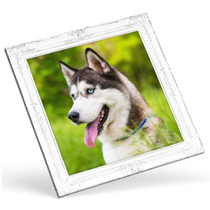 Square Custom Photo Canvas - Silver Frame Effect