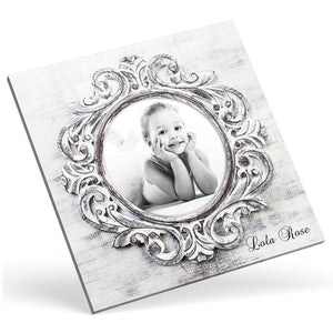 Square Custom Photo Canvas - Stylish Oval Frame Effect