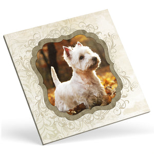 Square Custom Photo Canvas - Beige Frame Effect