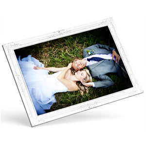 Custom Photo Canvas - Silver Frame Effect