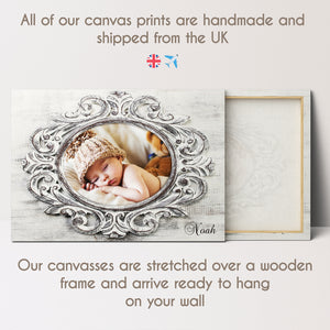 Custom Photo Canvas - Stylish Oval Frame Effect