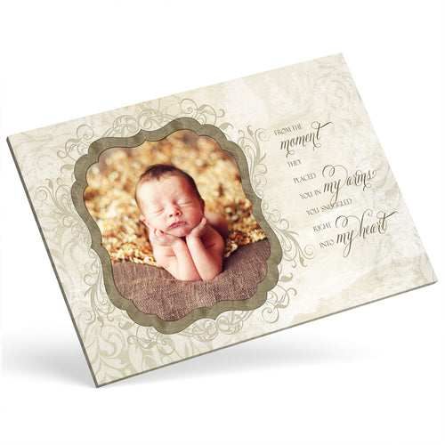 Custom Photo Canvas - Baby Quote Frame Effect