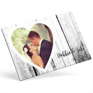 Custom Photo Canvas - Heart Frame Effect