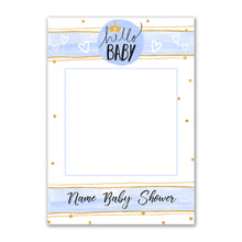 Baby Boy Shower Blue Personalised Custom Selfie Board Photo Frame Prop