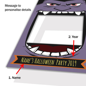 Halloween Monster Purple Personalised Custom Selfie Board Photo Frame Prop