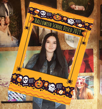 Halloween Monster Orange Personalised Custom Selfie Board Photo Frame Prop