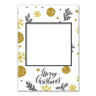 Merry Christmas Gold Personalised Custom Selfie Board Photo Frame Prop