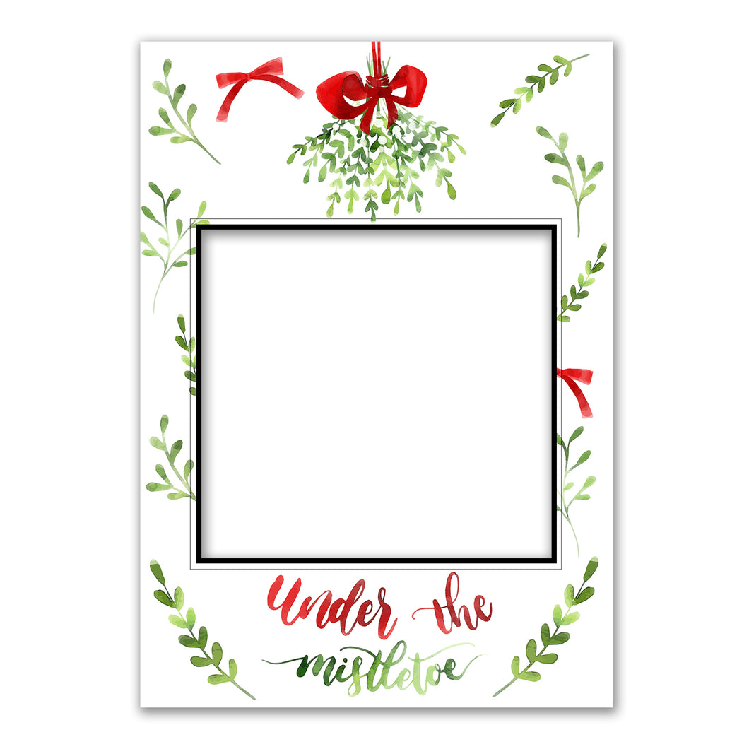 Merry Christmas Green Personalised Custom Selfie Board Photo Frame Prop