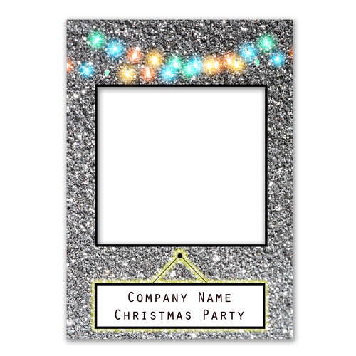 Merry Christmas Lights Personalised Custom Selfie Board Photo Frame Prop