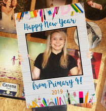 School New Year Pencil Personalised Custom Selfie Board Photo Frame Prop