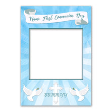 Communion Boy Pink Blue Personalised Custom Selfie Board Photo Frame Prop