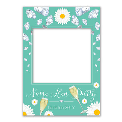 Party Alcohol Teal Blue Personalised Custom Selfie Board Photo Frame Prop