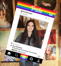 Instagram Social Media Selfie Frame Personalised Custom Photo Board Pride Flag
