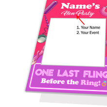 Personalised Custom Selfie Frame Funny Adult Hen Party Photo Board