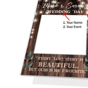 Personalised Custom Selfie Frame Rustic Vintage Photo Board