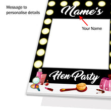 Personalised Custom Selfie Frame Vanity Mirror Salon Black Photo Board