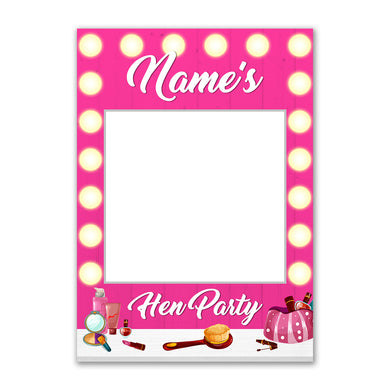 Personalised Custom Selfie Frame Vanity Mirror Salon Pink Photo Board