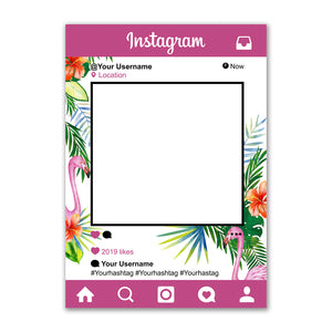 Personalised Selfie Frame Custom Instagram Social Media Photo Purple Tropical