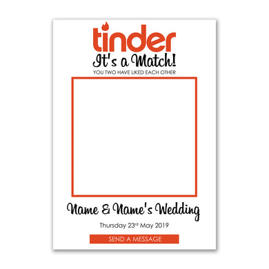 Personalised Selfie Frame Custom Tinder Social Media Photo Board