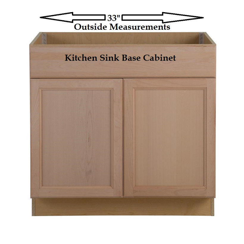 "FITS 33"" KITCHEN SINK CABINET BASE"