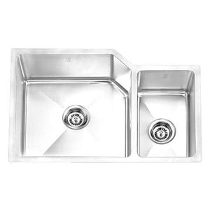"AKOYA - Offset Double Bowl Stainless Steel Kitchen Sink - 30"" x 20"" x 10"""