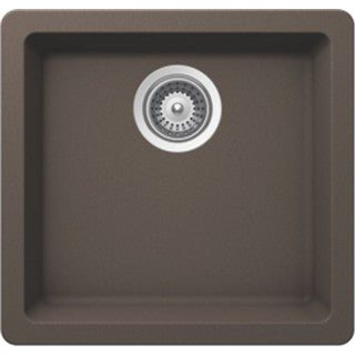 "BRISTOL SINKS - VIRTUO B307 - Single Bowl Under Mount Granite BAR Sink - Coffee Brown - 17 3/4"" x 16 7/8""  x 7 3/4"""