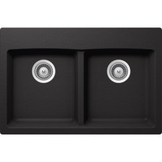 "VIRTUO B320 - Top Mount Kitchen Sink  - Pearl Black - 31 x 20.5"" x 9"""