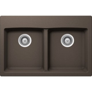 "VIRTUO B321 - Top Mount Kitchen Sink - Coffee Brown - 31"" x 20.5"" x 9"""