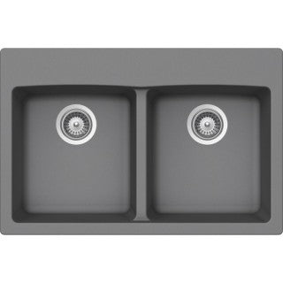 "VIRTUO B320 - Top Mount Kitchen Sink - Slate Grey - 31 x 20.5"" x 9"""
