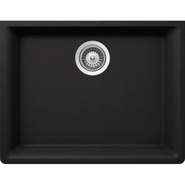 "BRISTOL SINKS - VIRTUO 323 - Single Bowl Granite Sink - Black - 23.62"" x 18.30"" x 9"""