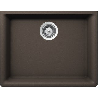 "BRISTOL SINKS - VIRTUO B324 - Single Bowl Granite Sink - Coffee Brown - 23.62"" x 18.30"" x 9"""