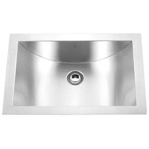"BIWA - Single Bowl Concaved Sink - 21"" x 15"" x 6 1/4"""