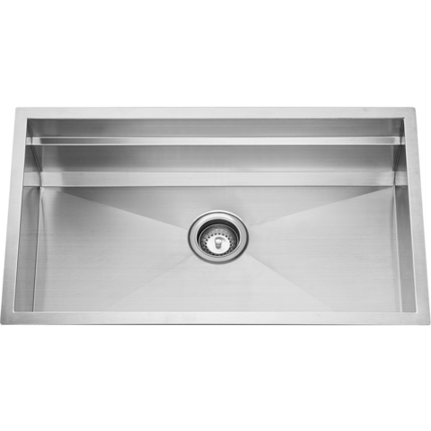 "CUVI - P - Square Single Bowl 16 Gauge Designer Kitchen Modular Sink System - 32"" x 19"" x 10"""