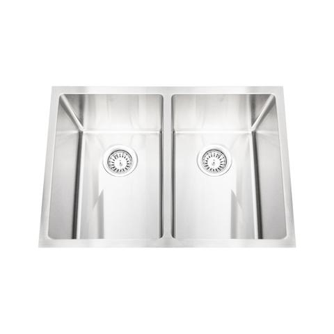 "HANA - EXR -  Designer Double Bowl Square Sink - 29"" x 20"" x 10"""